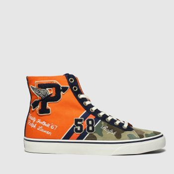 Polo Ralph Lauren Orange Solomon Ii Mens Trainers
