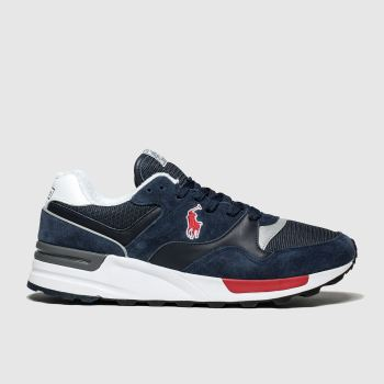 Polo Ralph Lauren Navy Trackster 100 Mens Trainers
