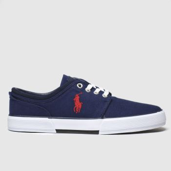 Polo Ralph Lauren Navy & Red Faxon Low Mens Trainers
