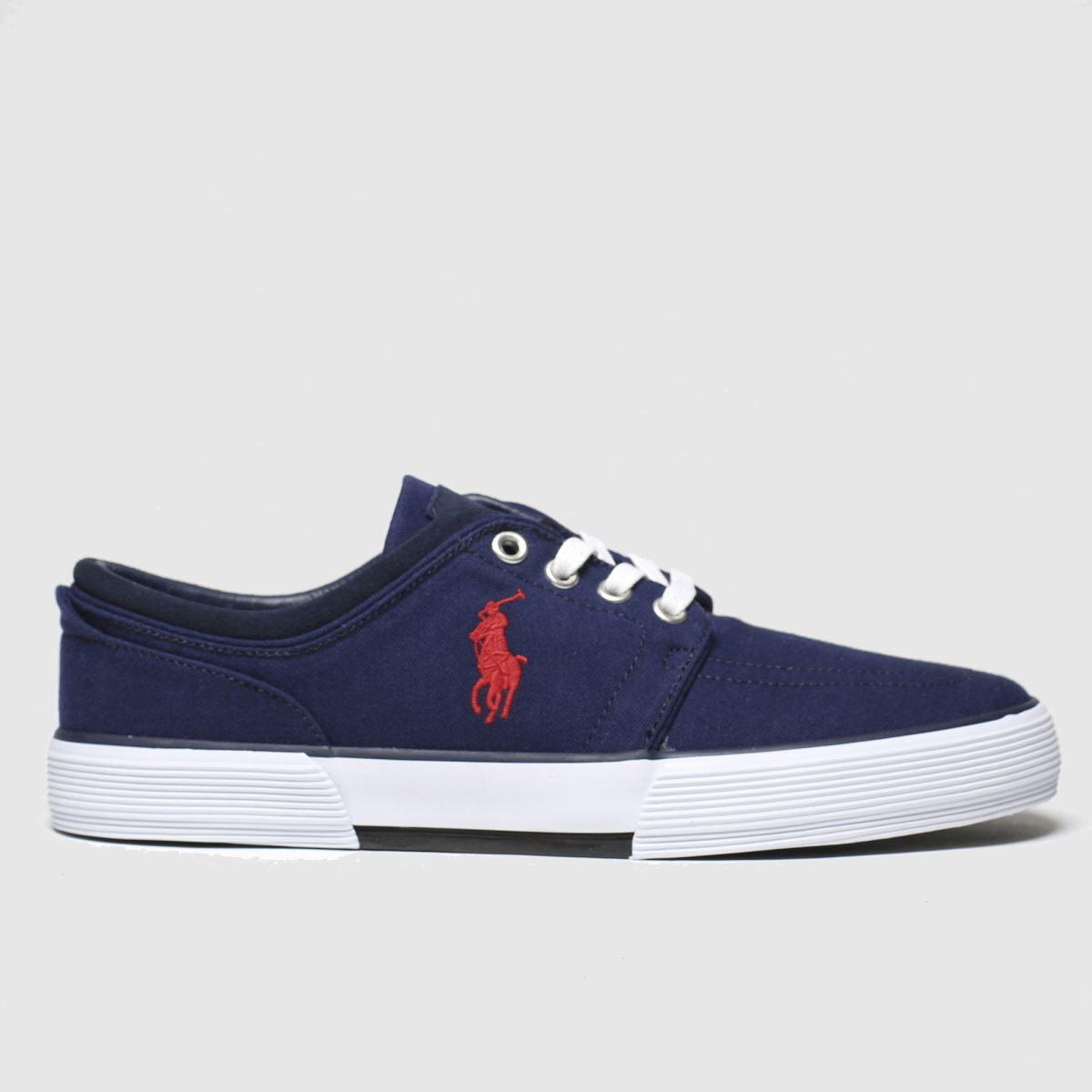 Polo Ralph Lauren Navy & Red Faxon Low Trainers