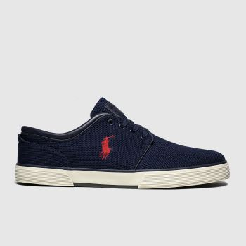 polo ralph lauren navy faxon low trainers