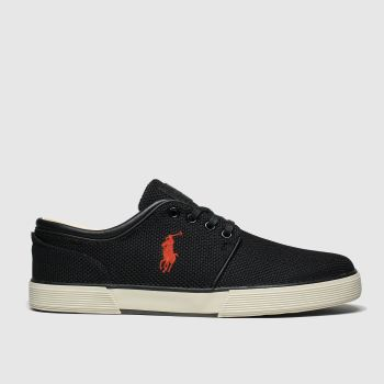 Polo Ralph Lauren Black Faxon Low Mens Trainers