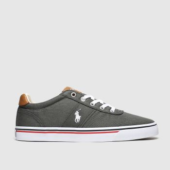 Polo Ralph Lauren Dark Grey Hanford Ne c2namevalue::Mens Trainers
