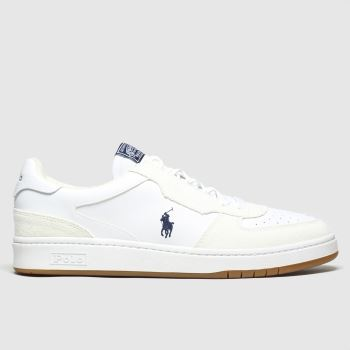 Polo Ralph Lauren White Crt Pp c2namevalue::Mens Trainers