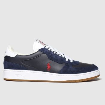 Polo Ralph Lauren Navy & Red Crt Pp Mens Trainers