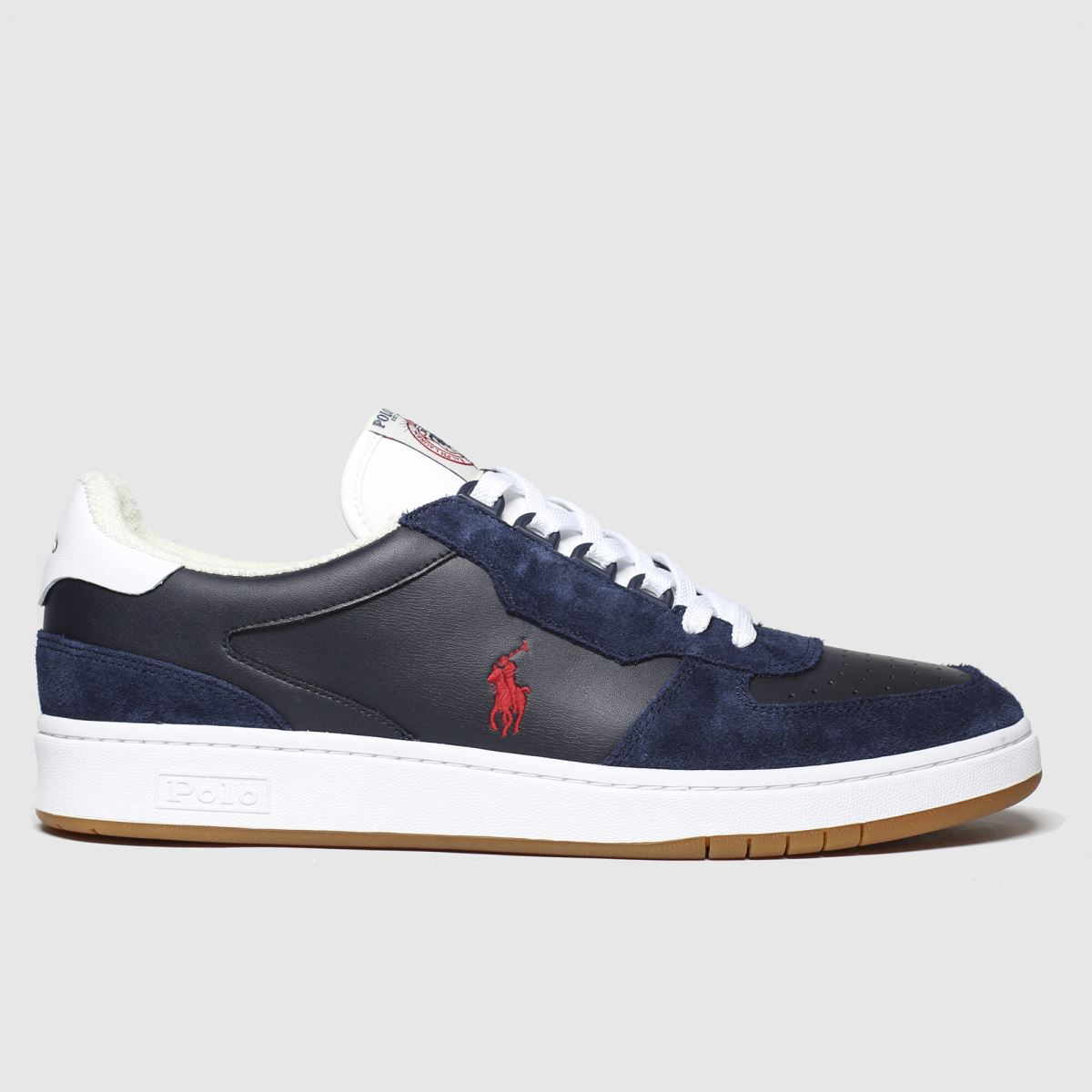 Polo Ralph Lauren Navy & Red Crt Pp Trainers