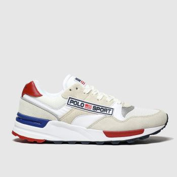 Polo Ralph Lauren White Trckstr Sprt c2namevalue::Mens Trainers