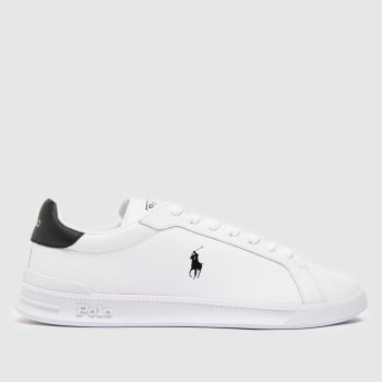 Polo Ralph Lauren White & Black Heritage Court Mens Shoes