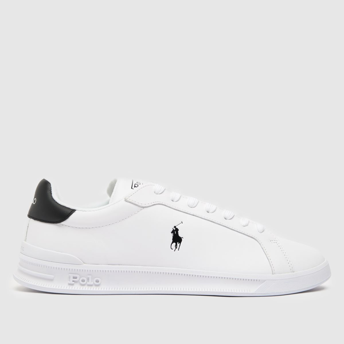 Polo Ralph Lauren White & Black Heritage Court Shoes