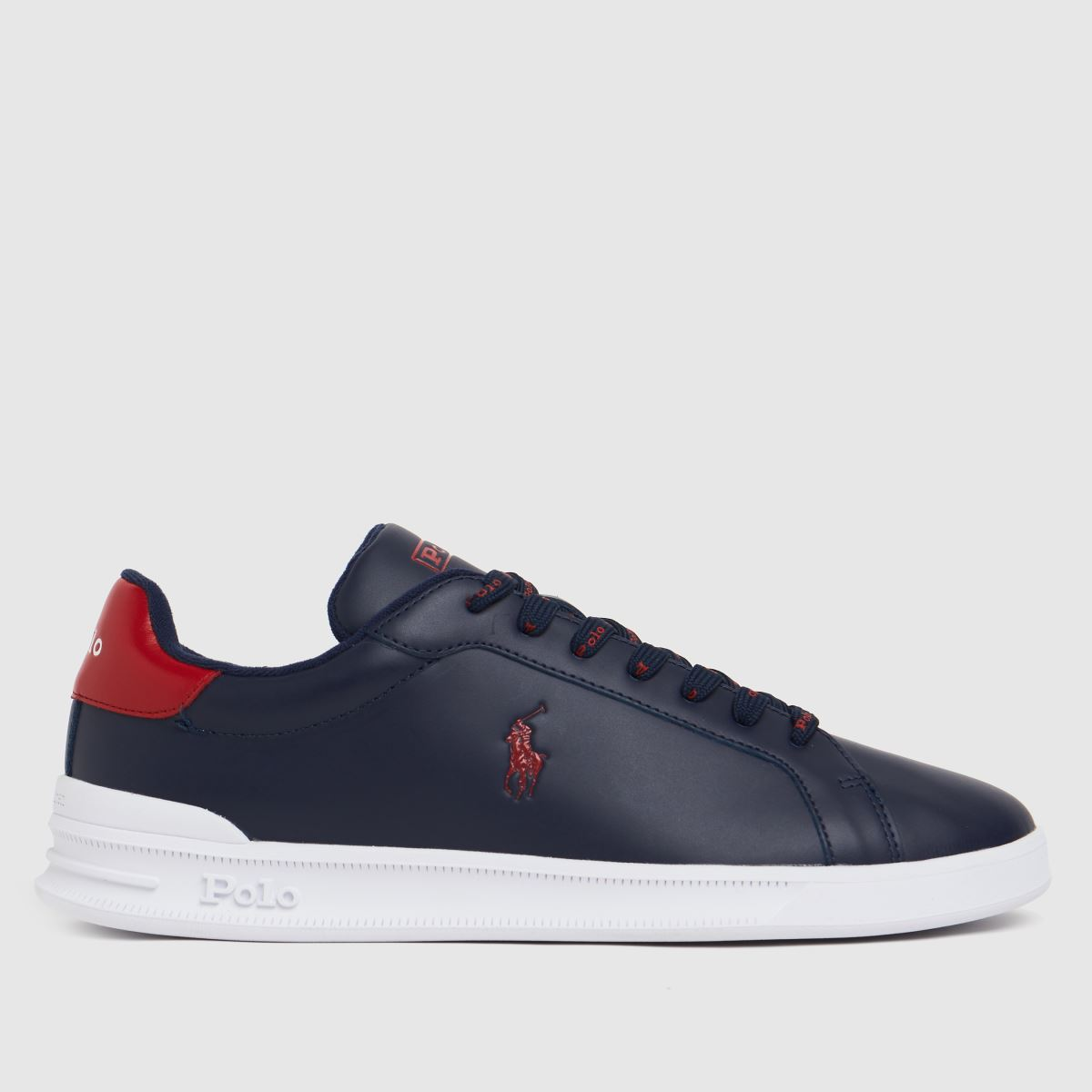 Polo Ralph Lauren White & Navy Heritage Court Shoes