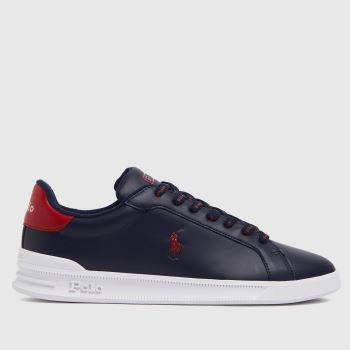 Polo Ralph Lauren Navy & Red Heritage Court Mens Shoes