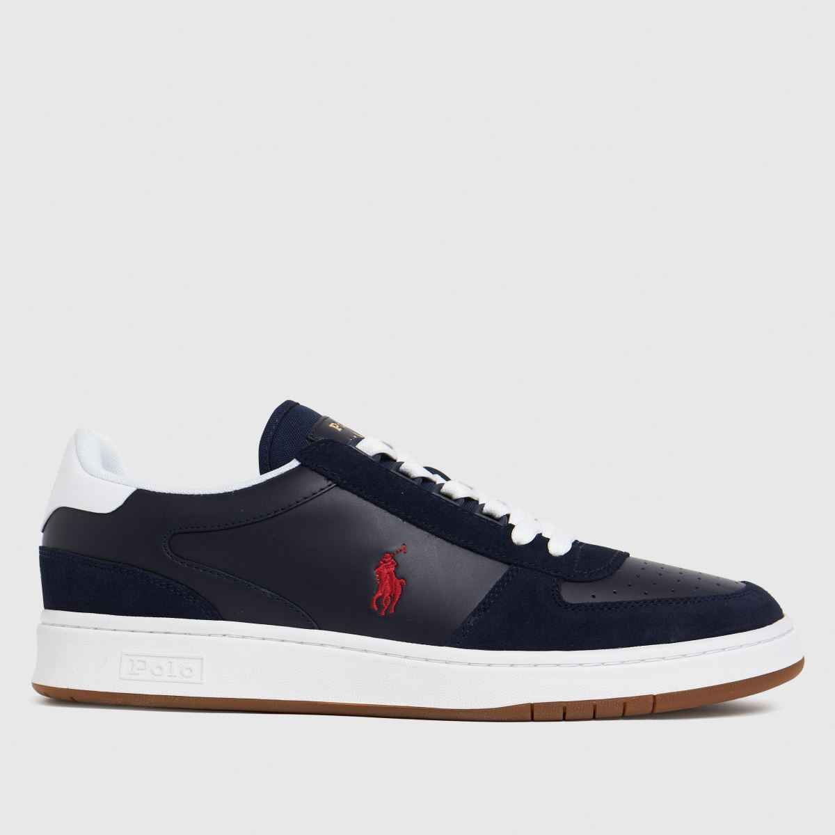 Polo Ralph Lauren Navy & Red Court Shoes