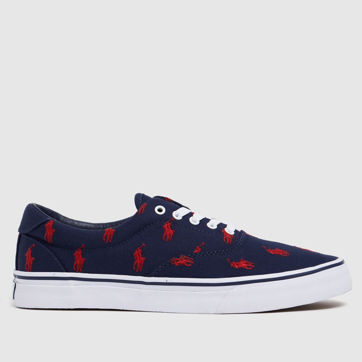 Polo Ralph Lauren Navy & Red Thornton Trainers