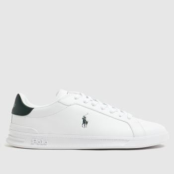 Polo Ralph Lauren White & Green Heritage Court Mens Trainers