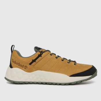 Timberland Tan Solar Wave Low Leather Mens Trainers