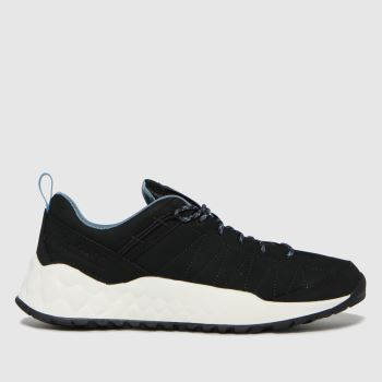 Timberland Black Solar Wave Low Leather Mens Trainers