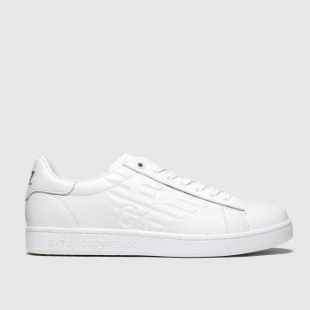 Emporio Armani White Classic New Mens Trainers