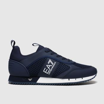 Ea7 Emporio Armani Navy Mesh Runner Mens Trainers