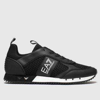Ea7 Emporio Armani Black Mesh Runner c2namevalue::Mens Trainers
