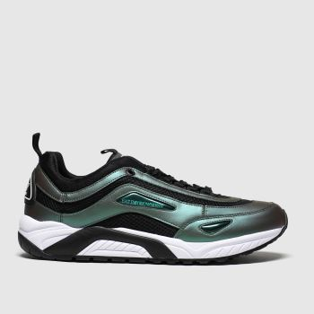 Ea7 Emporio Armani Green Ea7 New Racer c2namevalue::Mens Trainers