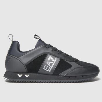 Ea7 Emporio Armani Schwarz Suede Runner Herren Sneaker