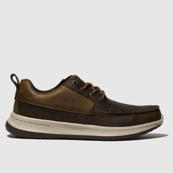 Skechers Brown Delson Elmino Mens Trainers