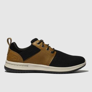 Skechers Brown & Black Delson Brant Mens Trainers