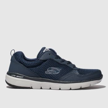 SKECHERS Navy Flex Advantage 3.0 Mens Trainers