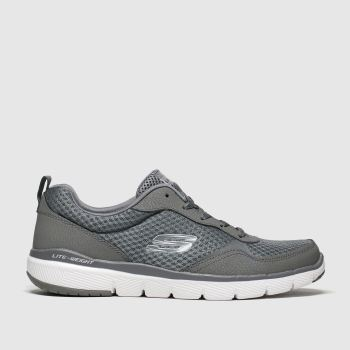 Skechers Grey Flex Advantage 3.0 Mens Trainers