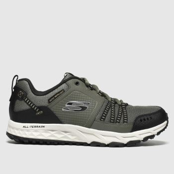 Skechers Khaki Escape Plan c2namevalue::Mens Trainers