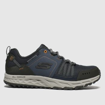 Skechers Navy & Orange Escape Plan c2namevalue::Mens Trainers