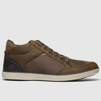 Skechers Brown Lanson Chukka Mens Trainers#