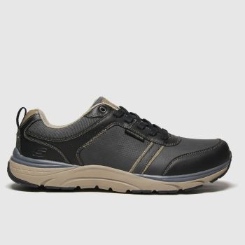 SKECHERS Black Sentinal Lunder Mens Trainers