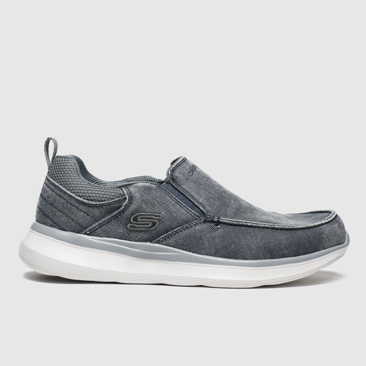 Skechers Grey Delson Slip Trainers