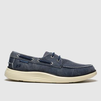 SKECHERS Navy Status 2.0 Lorano Mens Trainers