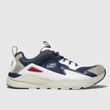 Skechers Navy & White Verrado Mens Trainers