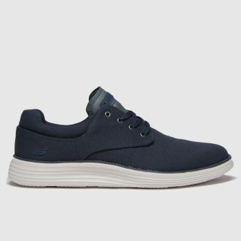 SKECHERS Navy Status 2.0 Burbank Mens Trainers