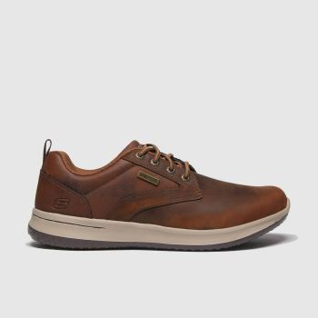 SKECHERS Brown Delson Antigo Mens Trainers
