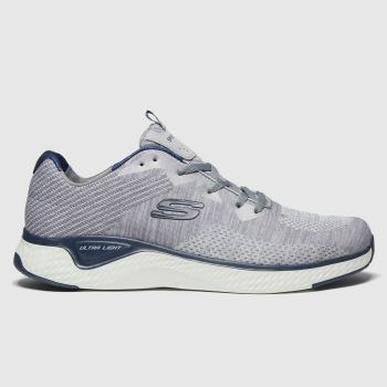 SKECHERS Grey Solar Fuse Kryzik Mens Trainers