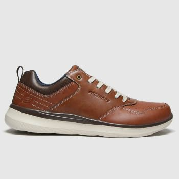 SKECHERS Brown Delson 2.0 Planton Mens Trainers