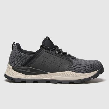 SKECHERS Black & Grey Riglen Trainers