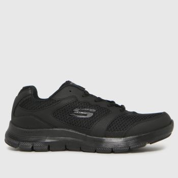 SKECHERS Black Flex Advantage 4.0 Mens Trainers