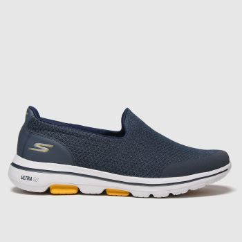 SKECHERS Navy Go Walk 5 Sparrow Mens Trainers
