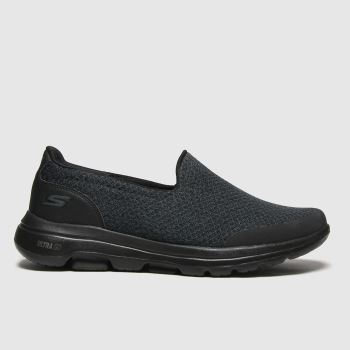 SKECHERS black go walk 5 sparrow trainers