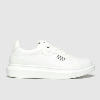 Guess White Salerno Mens Trainers