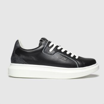 Guess Black & White Salerno c2namevalue::Mens Trainers