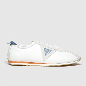 Guess White & Blue Torino c2namevalue::Mens Trainers