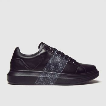 GUESS Black Salerno Ii Mens Trainers#