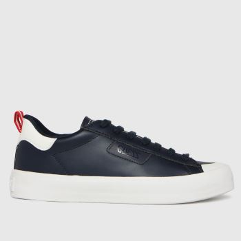 GUESS Navy & White Mima Mens Trainers