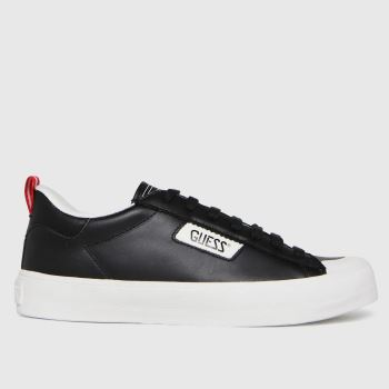 GUESS Black & White Mima Mens Trainers